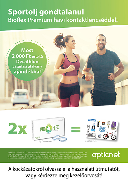 Sportolj gondtalanul Bioflex Premium havi kontaktlencséddel!